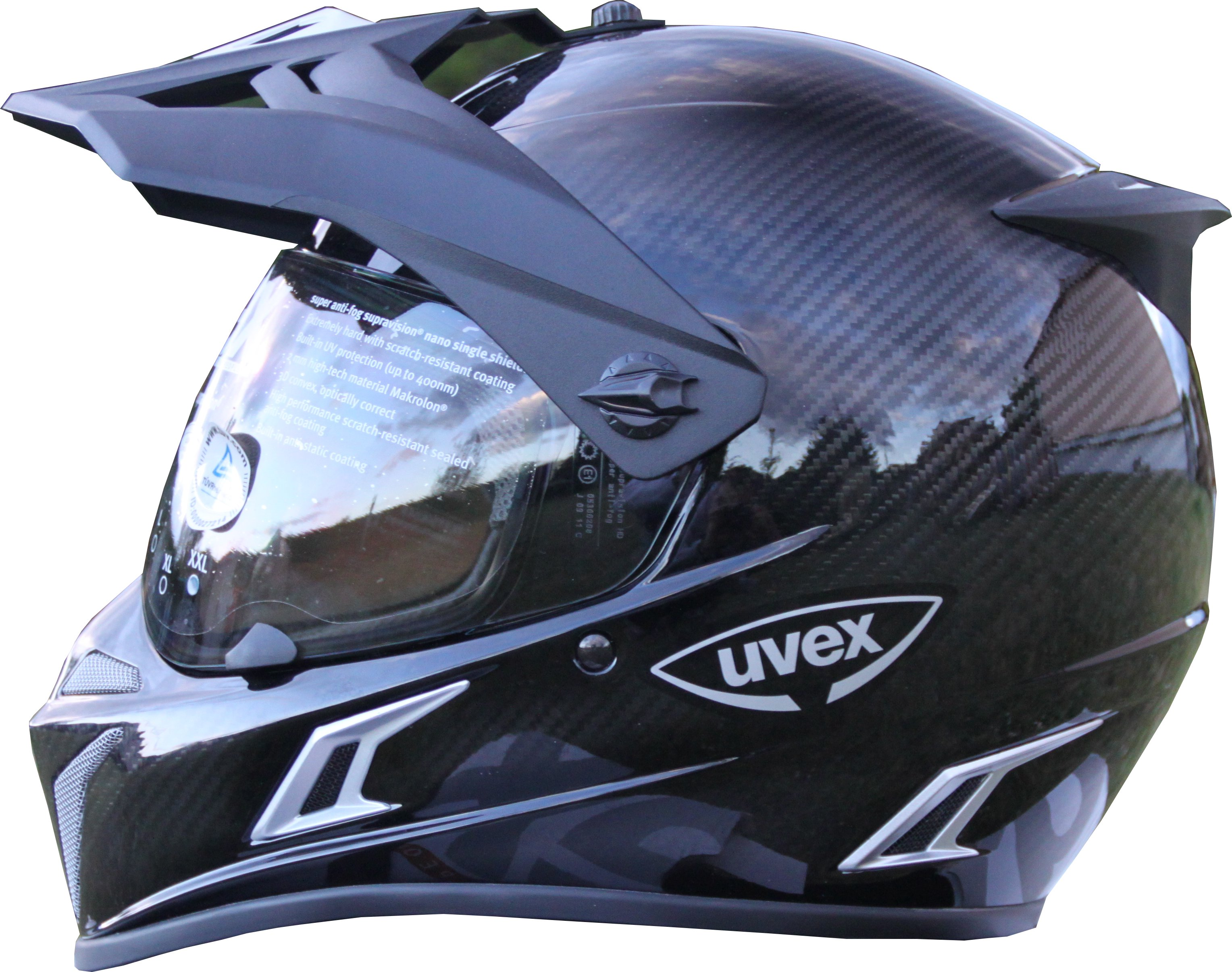 uvex helm endurohelm enduro carbon 3in1 gr xxl ebay. Black Bedroom Furniture Sets. Home Design Ideas