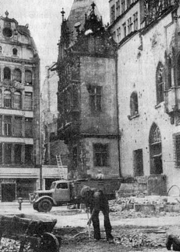Wrocław  1945 Zniszczenia 122