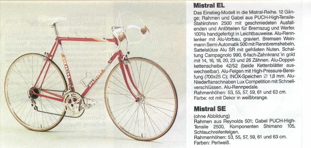 Puch (Austro Daimler) Rennräder von 1979-1987- Bike Mountainbike MTB ...