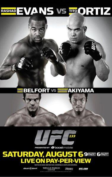 Das offizielle Poster für UFC 133