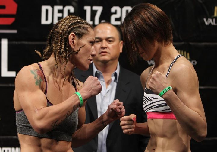 Cyborg vs. Yamanaka (Foto via Strikeforce)