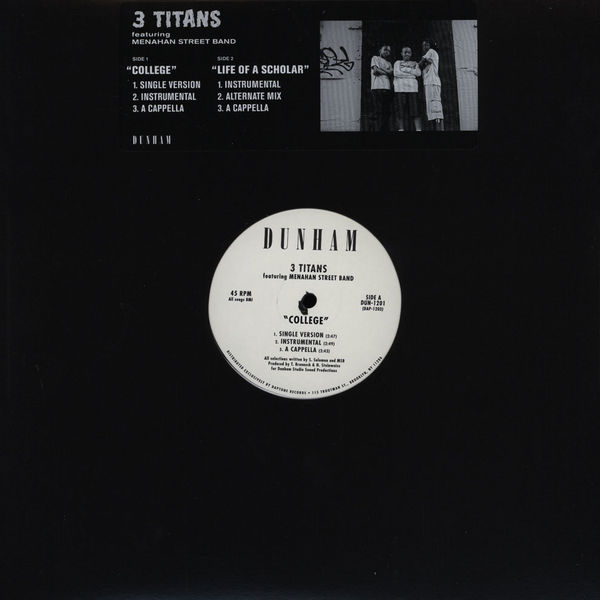Cover: 3 Titans and Menahan Street Band - College bw Life Of A Scholar-Ltd._Ed._VLS-2010-CMS
