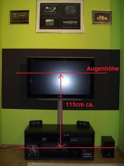 Lcd Wandmontage Auf Welcher Höhe Blu Ray Forum