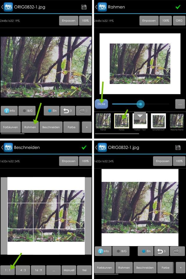 Großartig Instagram Bilderrahmen App Bilder - Benutzerdefinierte ...