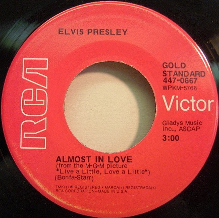 Almost In Love / A Little Less Conversation 447-0667bg9kdf