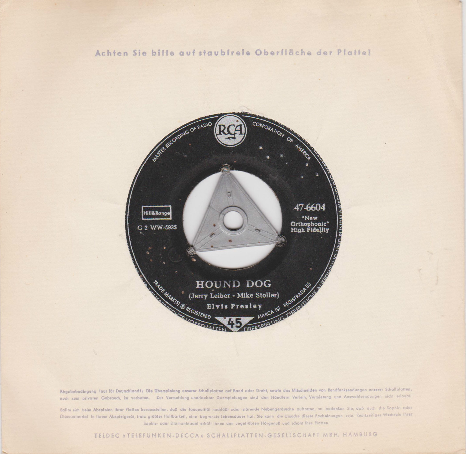 Hound Dog / Don't Be Cruel 47-6604akmuuz