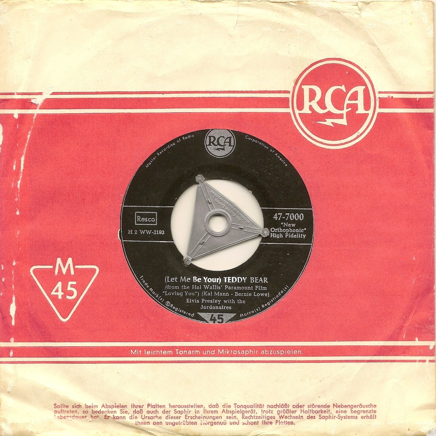 (Let Me Be Your) Teddy Bear / Loving You 47-7000ac9dzu