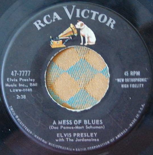 It's Now Or Never / A Mess Of Blues 47-7777dj3o2l