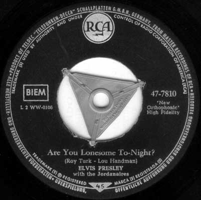 Are You Lonesome Tonight? / I Gotta Know 47-7810-32muam
