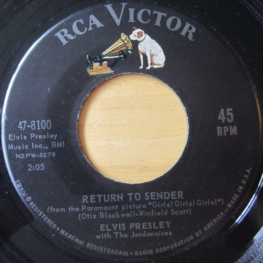 Return To Sender / Where Do You Come From 47-8100c6ppj4