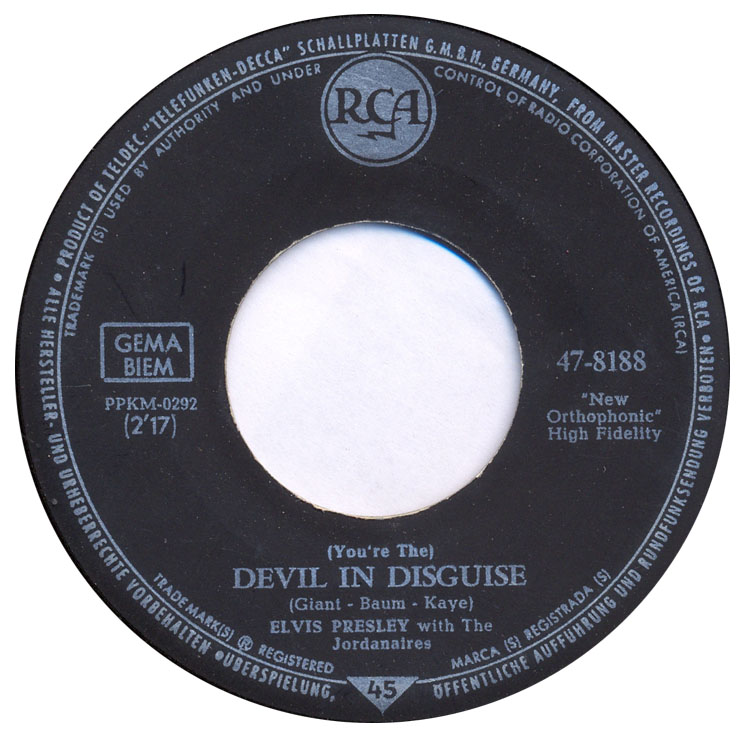 (You're The) Devil In Disguise / Please Don't Drag That String Around 47-8188-3s7dgh