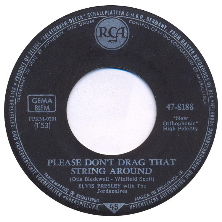 (You're The) Devil In Disguise / Please Don't Drag That String Around 47-8188-4fqel6