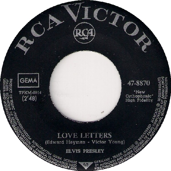 Love Letters / Come What May 47-8870-3e6csx