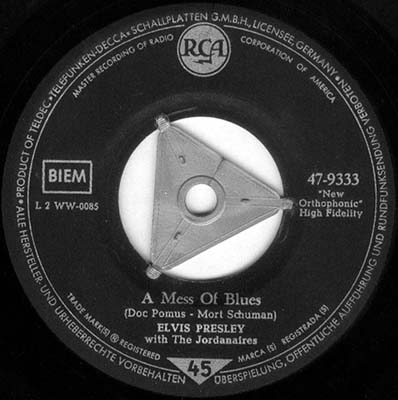 A Mess Of Blues / The Girl Of My Best Friend 47-9333-2p5uiw