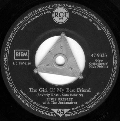 A Mess Of Blues / The Girl Of My Best Friend 47-9333-33suqz