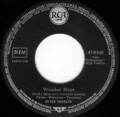 Wooden Heart (Muß I Denn) / Tonight's All Right For Love (G'schichten Aus Dem Wiener Wald) 47-9340-3vcuye