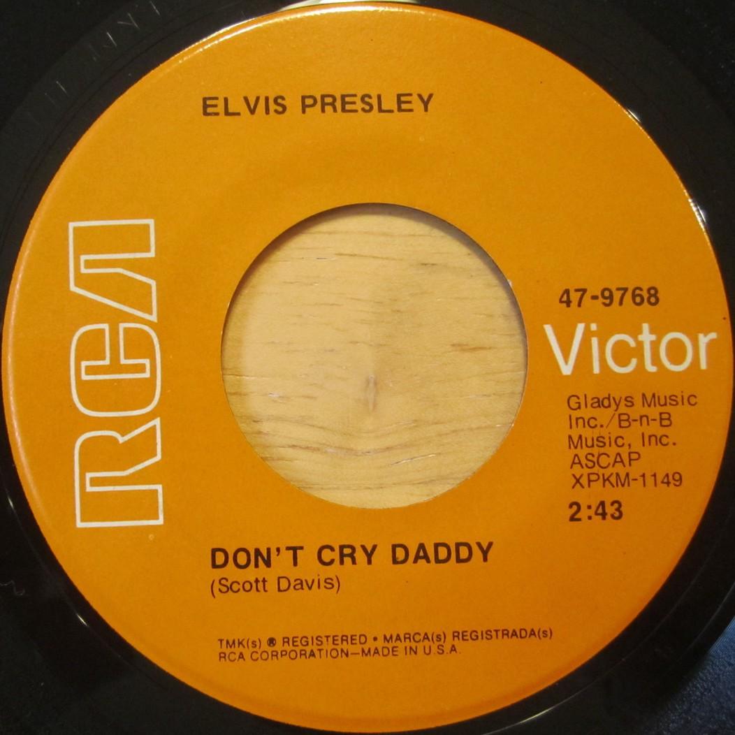 Don't Cry Daddy / Rubberneckin' 47-9768cqlosg