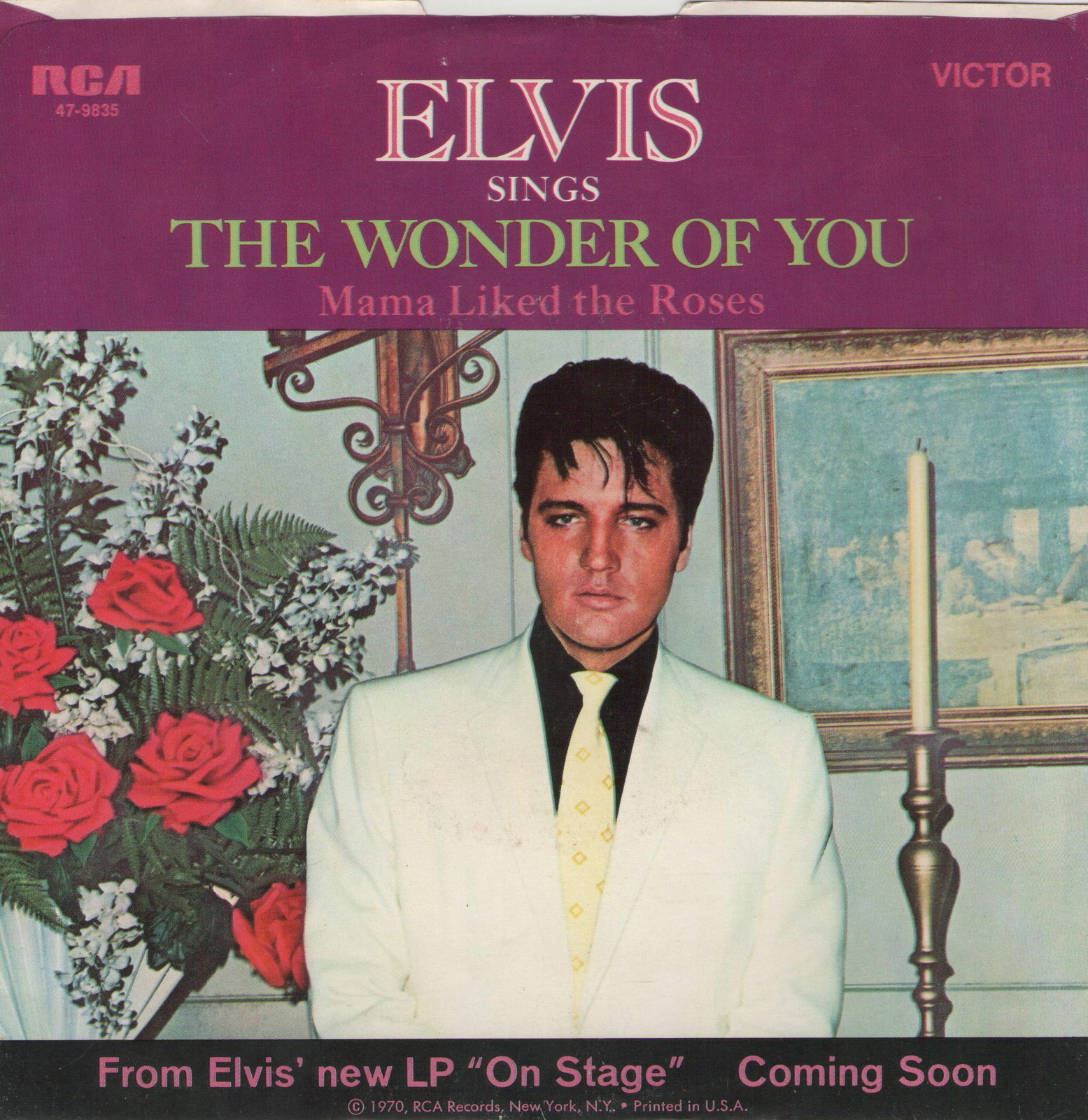 The Wonder Of You / Mama Liked The Roses 47-9835afzo7v