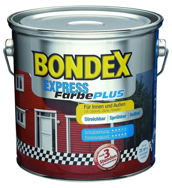 bondex express farbe plus schwedenrot 2 50l 1l 14 40. Black Bedroom Furniture Sets. Home Design Ideas