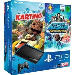 amazon: PS3 Super Slim + Little Big Planet Karting + PlayStation All-Stars Battle Royale für nur 279,97€