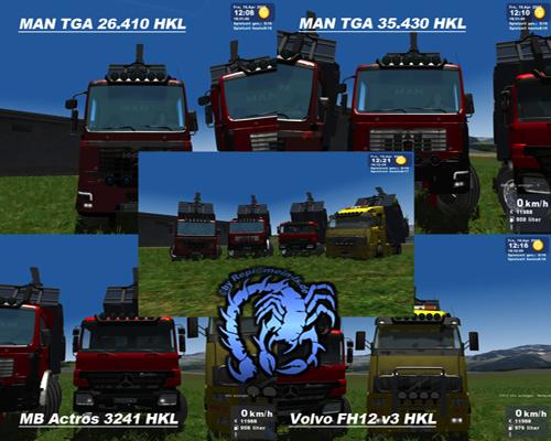 MAN - Mercedes - Volvo TGA HKL Pack