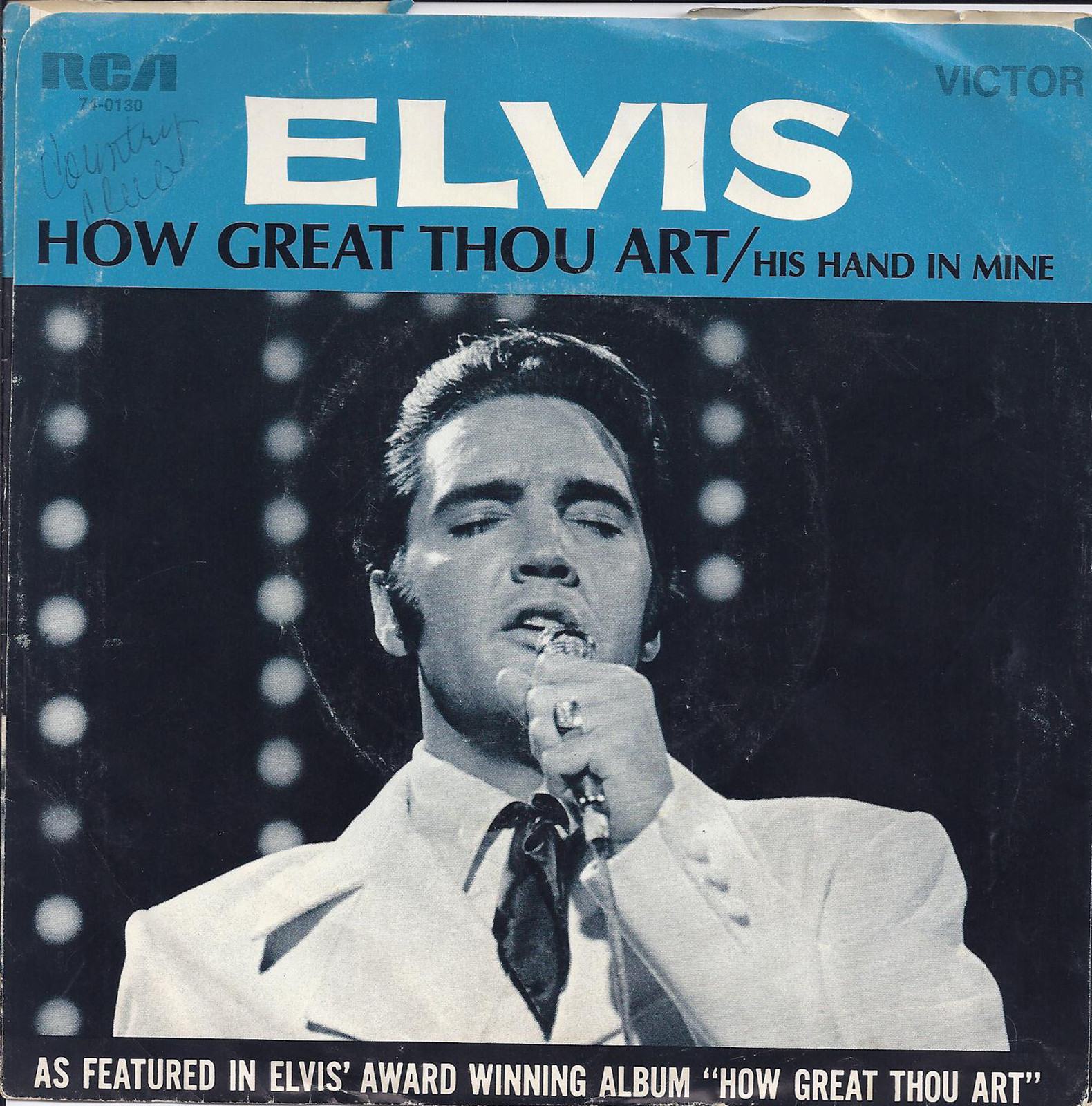 His Hand In Mine / How Great Thou Art 74-0130aexjow