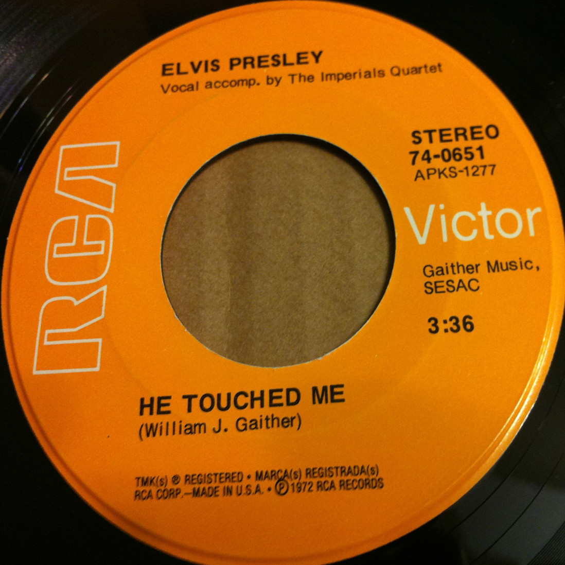 He Touched Me / Bosom Of Abraham 74-0651cmhsv0