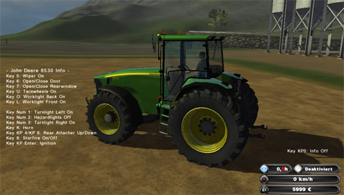 John Deere 8530 (Reflective skin fixed)