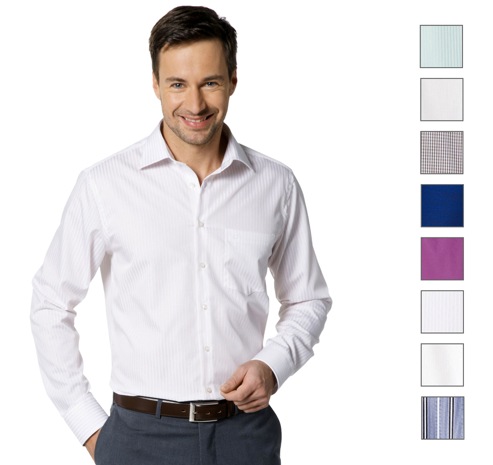 ebay wow seidensticker herren business hemd 1 1 langarm. Black Bedroom Furniture Sets. Home Design Ideas
