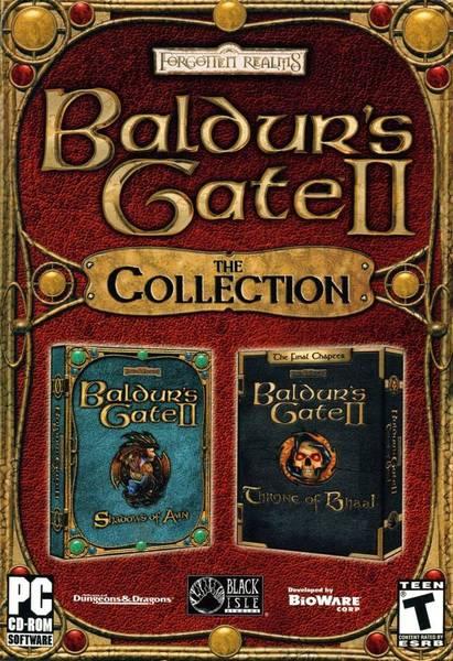 Baldurs Gate II: Schatten von Amn + Thron des Bhaal Deutsche  Texte, Untertitel, Menüs, Videos, Stimmen / Sprachausgabe Cover