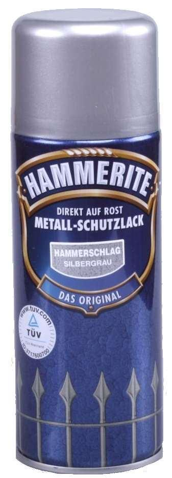 hammerite spraydose metallschutz lack hammerschlag 400ml silbergrau neuware ebay. Black Bedroom Furniture Sets. Home Design Ideas