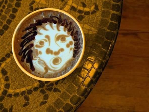 Coffee art - rysowanie na kawie 10