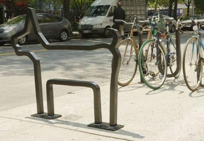 Oryginalne stojaki rowerowe 15