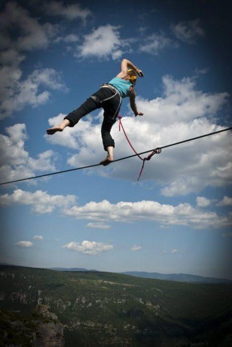 Faith Dickey - kobieta pozbawiona lęku wysokości 24
