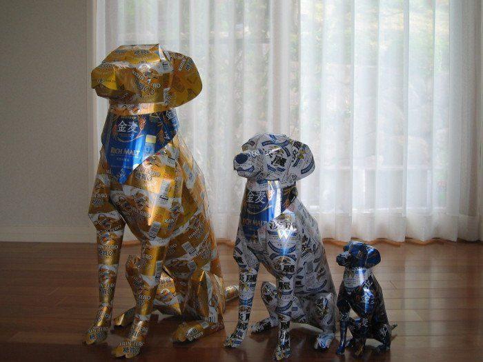 Rzeźby z aluminiowych puszek 28