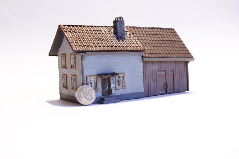 Spur N Häuser – Aus Karton und Resten - Stummis Modellbahnforum