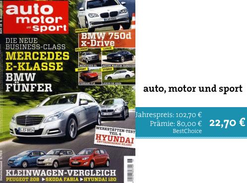 auto, motor sport im Jahresprämienabo