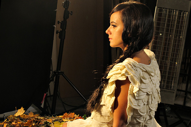 Alizée at the shooting of A cause de l'automne