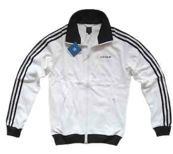Adidas Originals Beckenbauer TT Weiss Schwarz Jacke