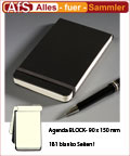 AGENDA BLOCK Notizblock Blanko Verschlußgummi