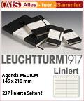 AGENDA MEDIUM Notizbuch Liniert Verschlußgummi