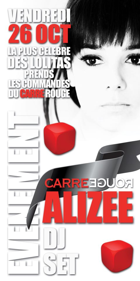 Alizée at Carre Rouge flier