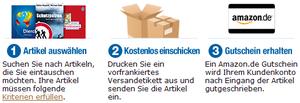 Amazon Trade-In Gebrauchte Bücher gegen Amazon-Gutschein tauschen