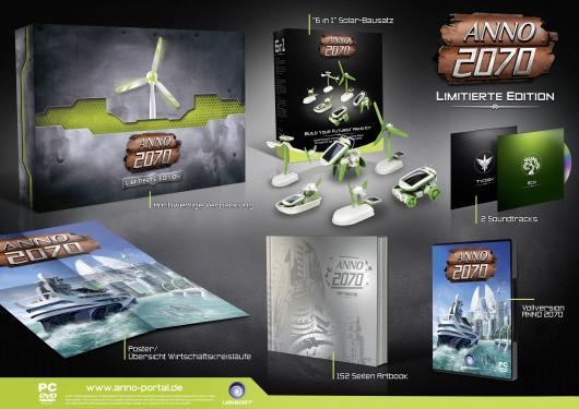 redcoon: Anno 2070: Limitierte Edition (PC) für nur 39€ inkl. Versand (mit 6 in 1 Solar-Bausatz und Artbook)