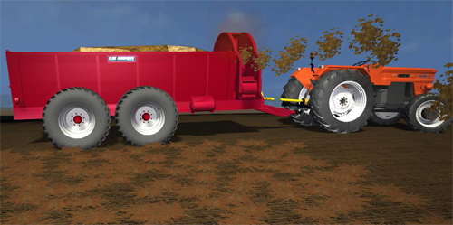 Front Laterally Manure Spreader