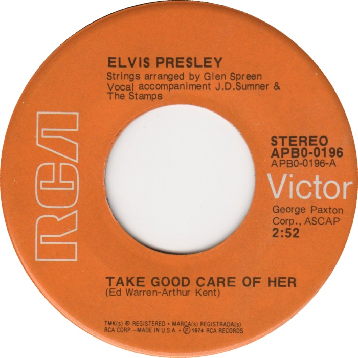 I've Got A Thing About You Baby / Take Good Care Of Her Apb0-0196-325c9z