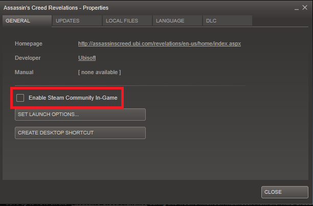 in game steam overlay