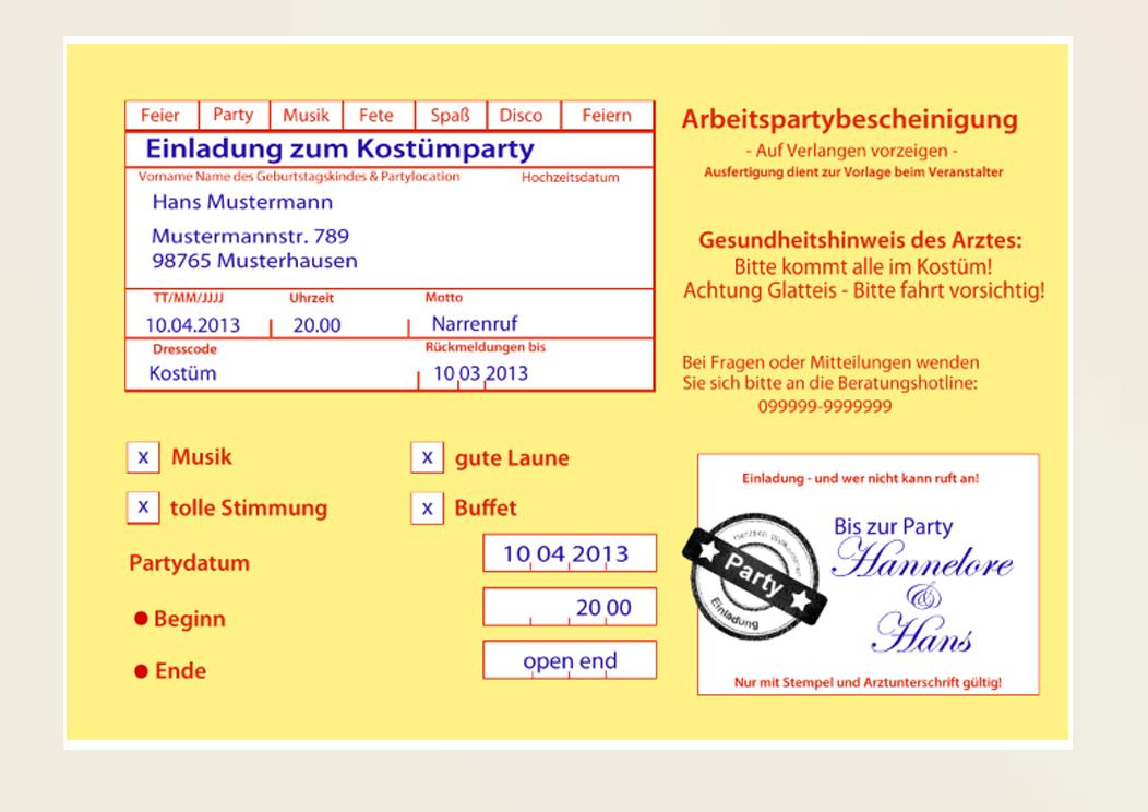 Einladungskarten zum Geburtstag - witzig & originell ...