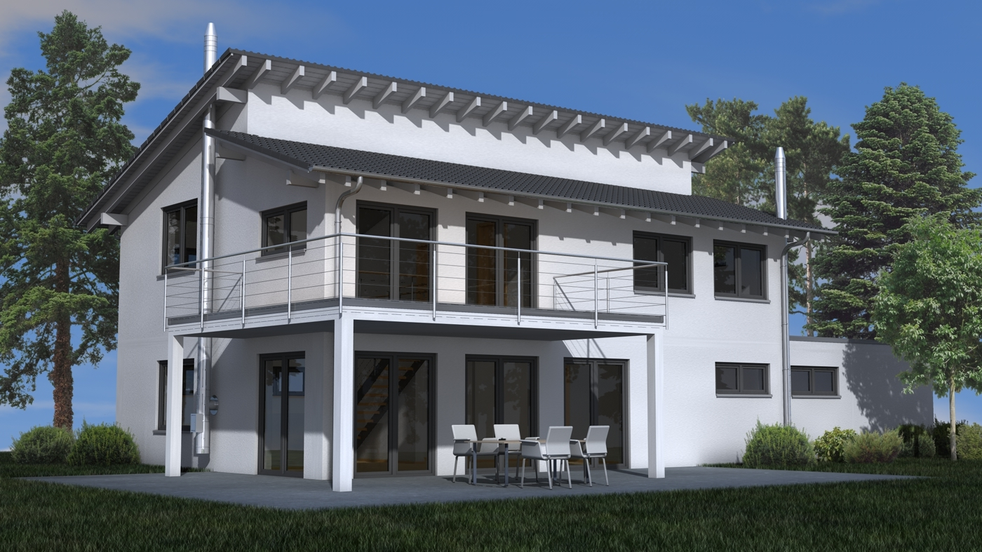 Architektur rendering beleuchtung au en vs innen c4d for Cinema 4d architektur