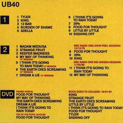 UB40 - Signing off (30-th anniversary edition remastered)